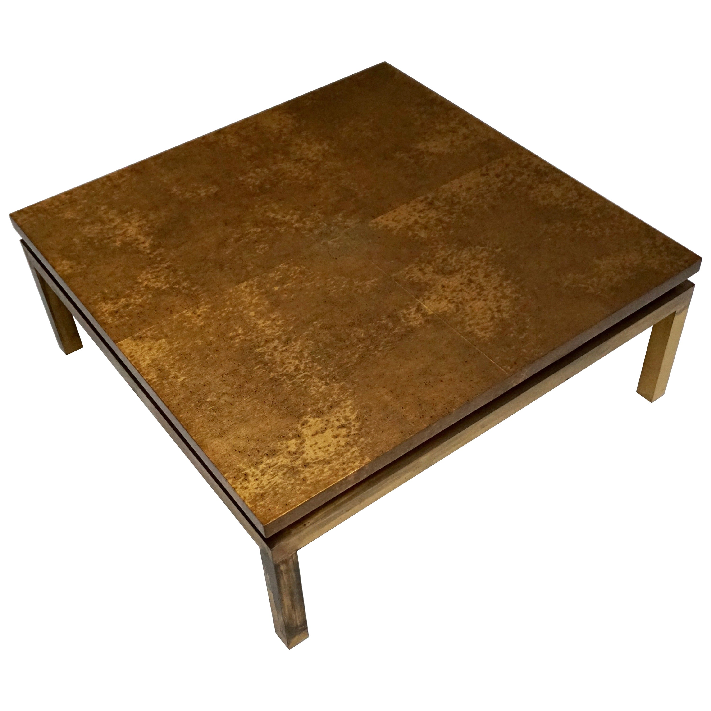 Italian Mid-Century Modern Gold Coffee Table