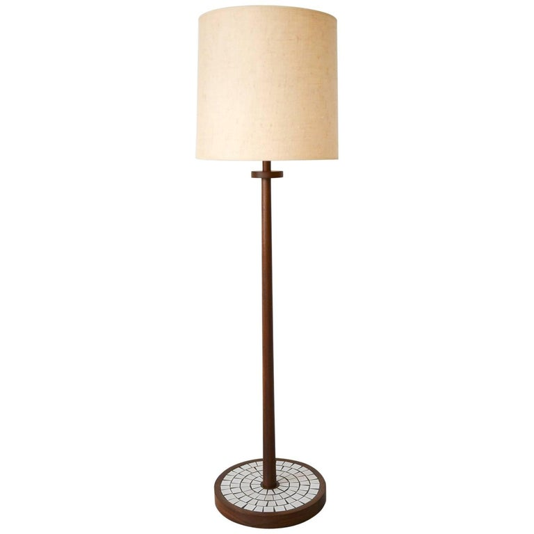 Walnut Floor Lamp by Gordon and Jane Martz, Marshall Studios, circa 1965 For Sale
