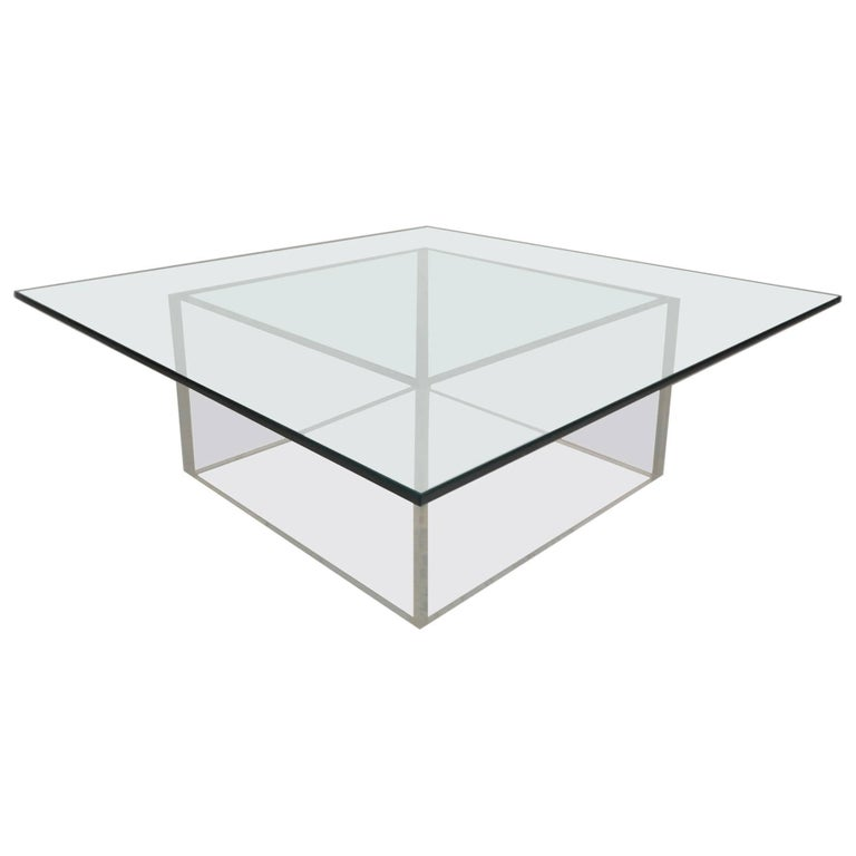 Mid-Century Modern Lucite and Glass Coffee Table