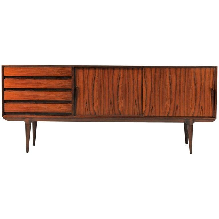 1960s Gunni Omann Rosewood Sideboard model 18 by Omann Jun