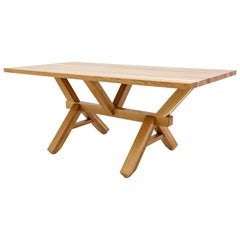 Calypso Dining Table Modern Handmade Oak