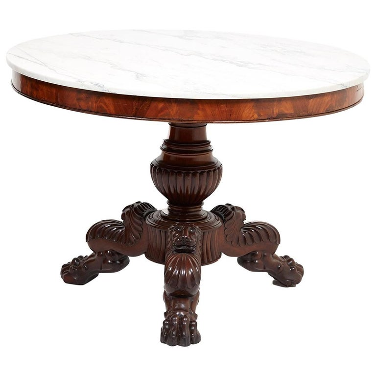 Antique French Marble-Top Gueridon, circa 1840