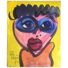 Original Modern Expressionist Portrait by Peter Keil
