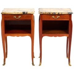 Pair of Antique French Louis XV Style Nightstands, circa 1930