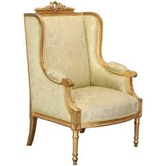 19th Century Louis XVI Bergere Armchair