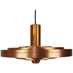 Sophus Frandsen Copper Fibonacci Pendant Light for Fog & Mørup, Denmark, 1963