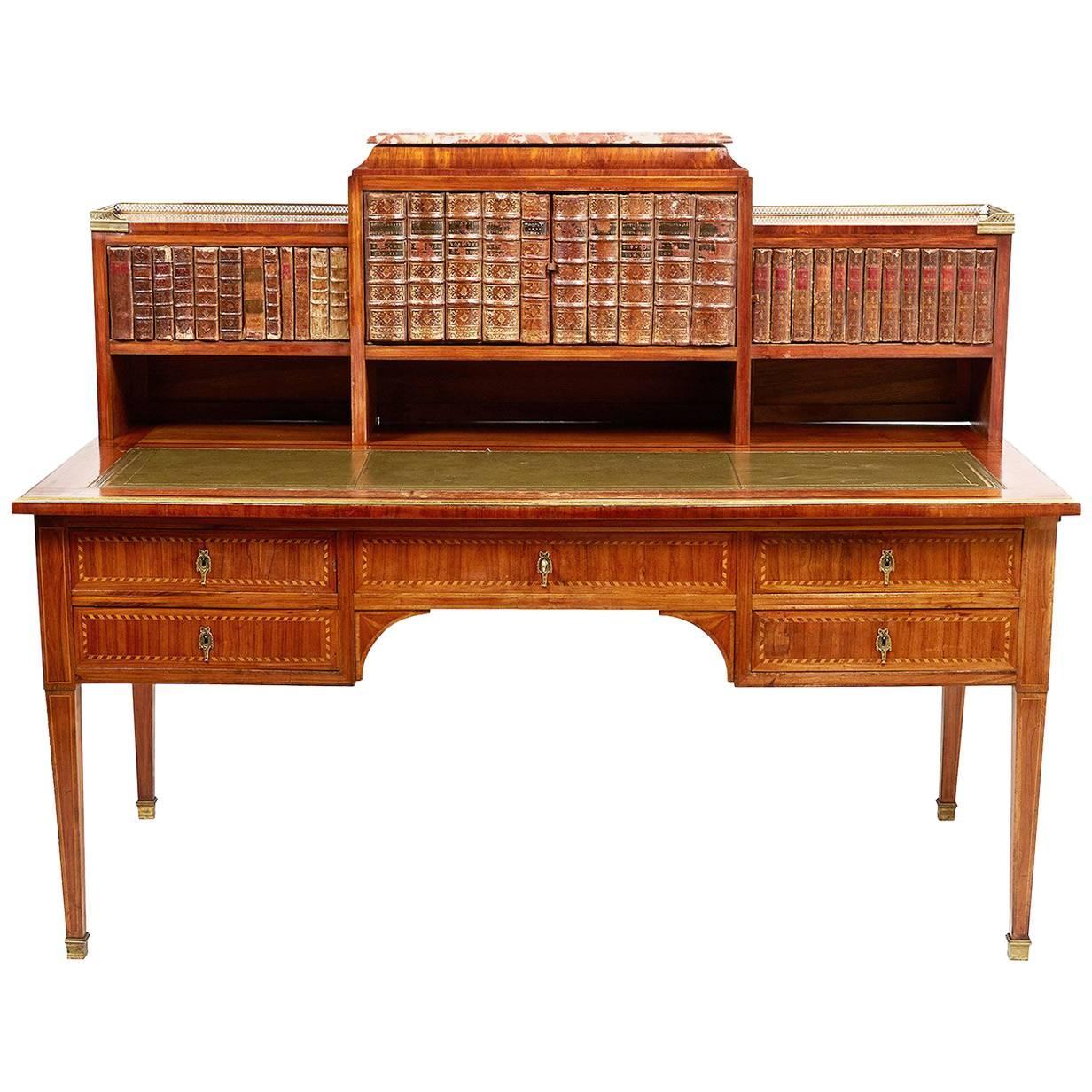 French Louis XVI Style Marquetry Desk, circa 1900