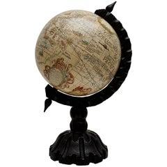 1950s Tabletop Globe on Oak Base