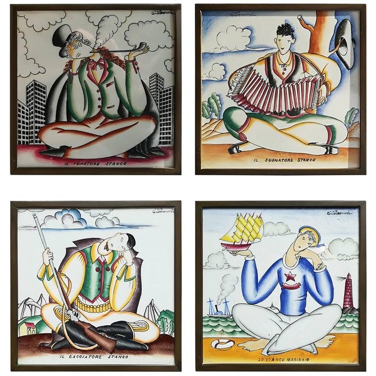 Giò Ponti, 1930, Ceramic Wall Tiles