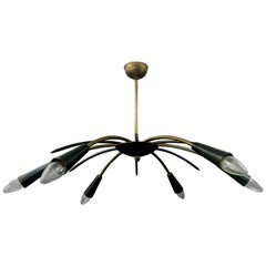 Midcentury Chandelier, with Six Arms