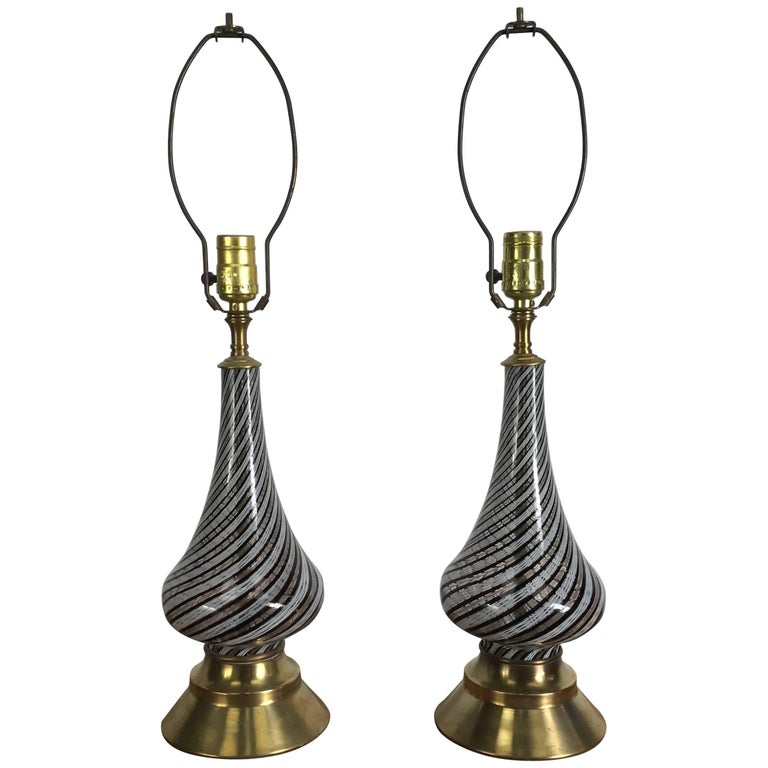 Pair of Murano Lamps by Dino Martens
