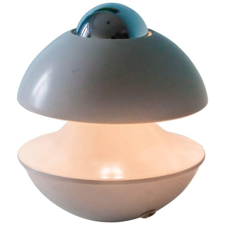 White Kaiser Space Age UFO Table or Wall Light, 1960s-1970s, Germany