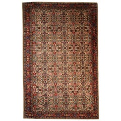 Handmade Antique Indian Indo-Mahal Rug, 1930s