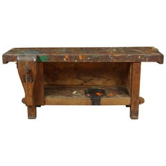 Primitive Work Bench from France, circa 1940