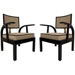 Two Armchairs by Lajos Kozma, Ungheria, 1940s