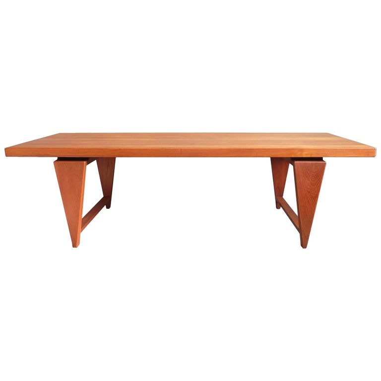 Illum wikkelso solid teak 1960s danish coffee table for sale at 1stdibs Solid teak coffee table