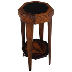 1925 - Art Deco Stand, walnut and marquetry, leather - France