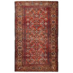 Handmade Antique Persian Hamadan Rug, 1920s