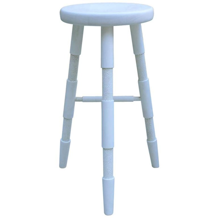 Saddle, Bleached Maple Counter Height Wood Bar Stool 1