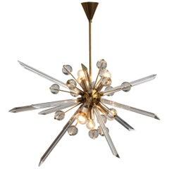 Custom Giant Teardrop Sputnik Chandelier For Sale at 1stdibs
