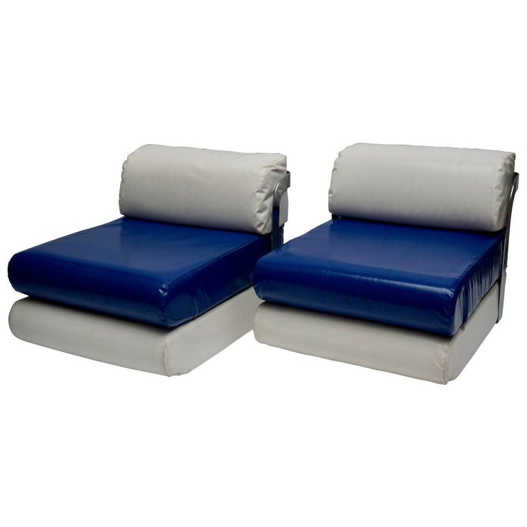 Two Italian Lounge Chairs For Sale