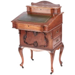 Victorian Freestanding Walnut Davenport