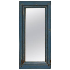Pine Wall Mirror from Antique French Panel
