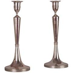 Pair of Empire Candlesticks, Vienna, 1809