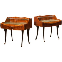 Set of Two, 1950s Nightstands by Paolo Buffa, Italy
