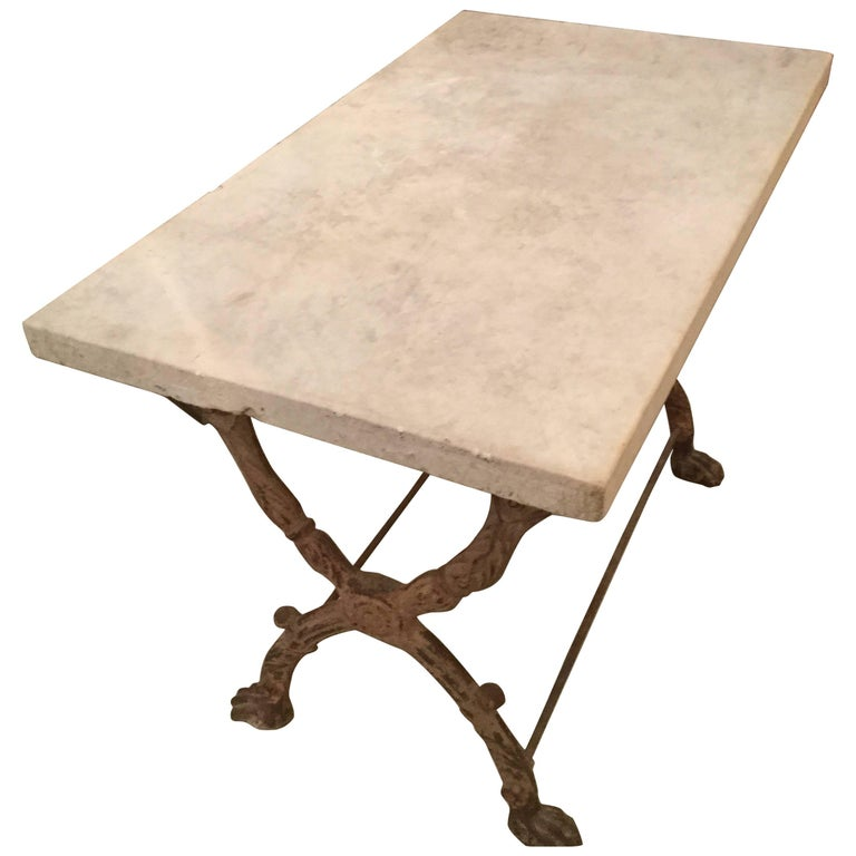 19th Century French Marble Garden Table