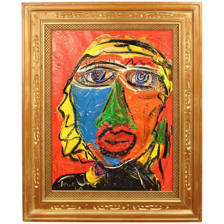 Peter Keil Portrait of Jayne Mansfield, Signed Oil on Canvas