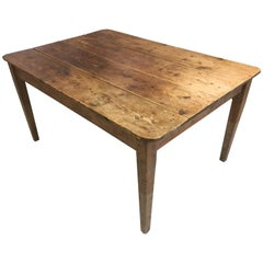 19th Century French Pine Dining / Harvest Table