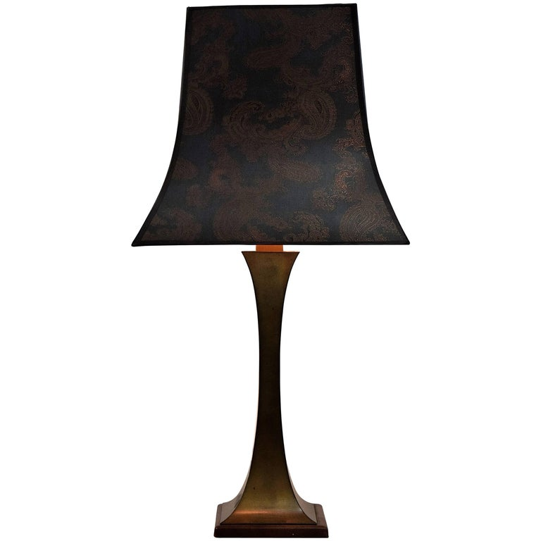 Maison Jansen Mid Century Modern Brass Table Lamp For Sale
