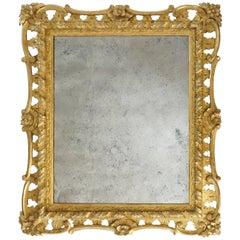 George II Rococo Style Mirror, England, circa 1830