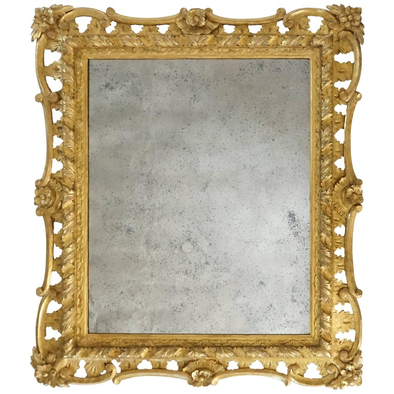 George II Rococo Style Mirror, England, circa 1830 For Sale