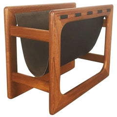 Minimalistic 1970s Danish Teak Magazine Rack Made by Salin Mobler, Denmark