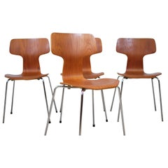 Set of Four 'Hammer' Chairs by Arne Jacobsen