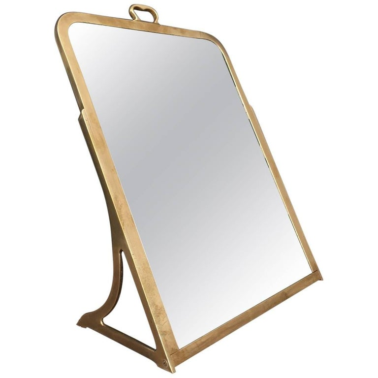 Brass Dressing Mirror Made for Shoes