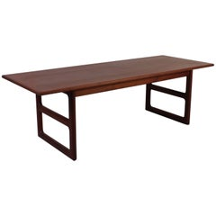 Midcentury Danish Teak Coffee Table with Sculptured Legs