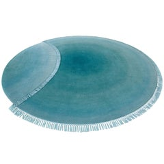Eclipse Titan Rug and Wall Tapestry Nepal Wool Green and Blue