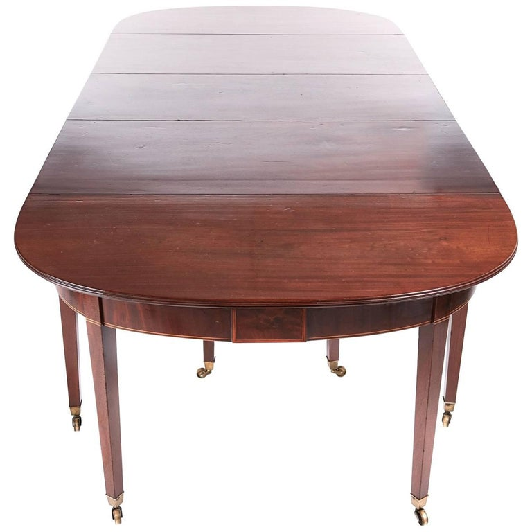 Fine George III Mahogany Dining Table