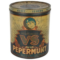 Art Deco Tin Box Medical Peppermint