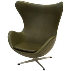 Egg Lounge Chair by Arne Jacobsen, Fritz Hansen, Leder