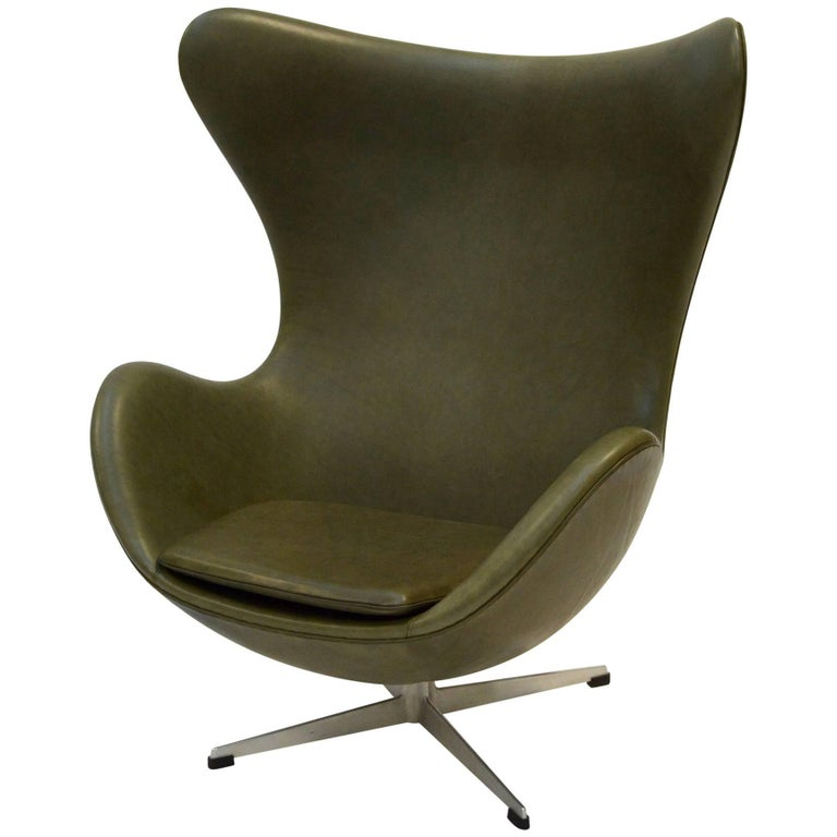 Egg Lounge Chair by Arne Jacobsen, Fritz Hansen, Leather