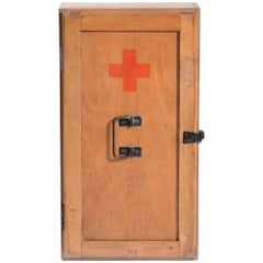 First Aid Cabinet in Wood, Czechoslovakia, 1970