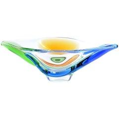 Art Glass Bowl, Rhapsody Collection by Frantisek Zemek for Sklarna Mstisov, 1960