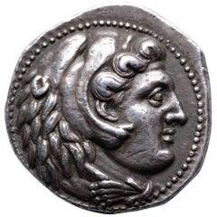 Ancient Greek Silver Alexander the Great Tetradrachm Coin - 325 BC