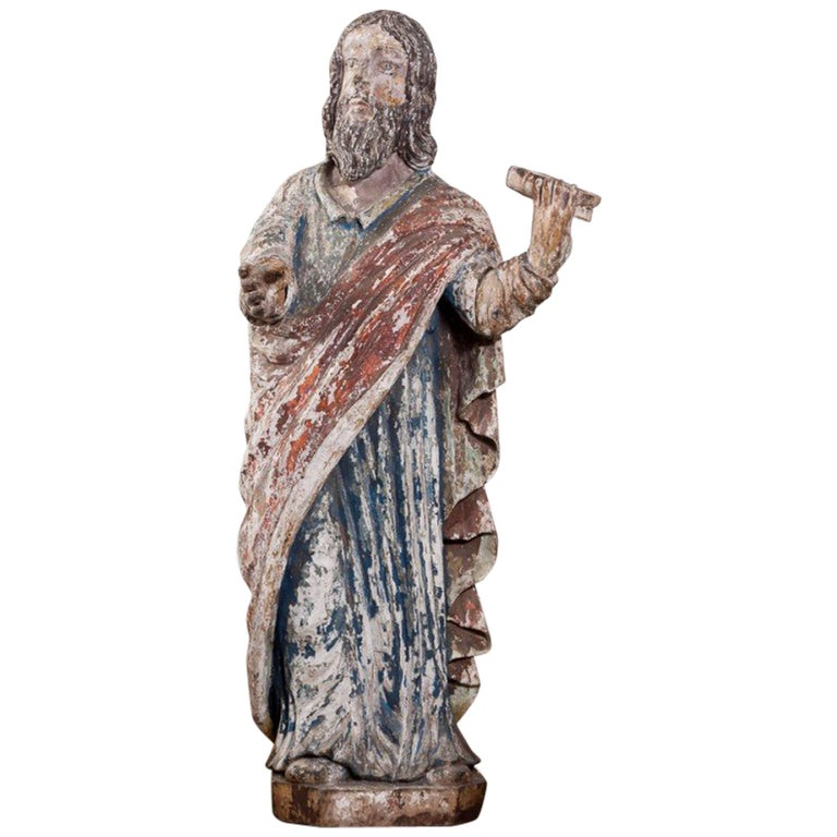 16th Century Carving of Saint Paul For Sale