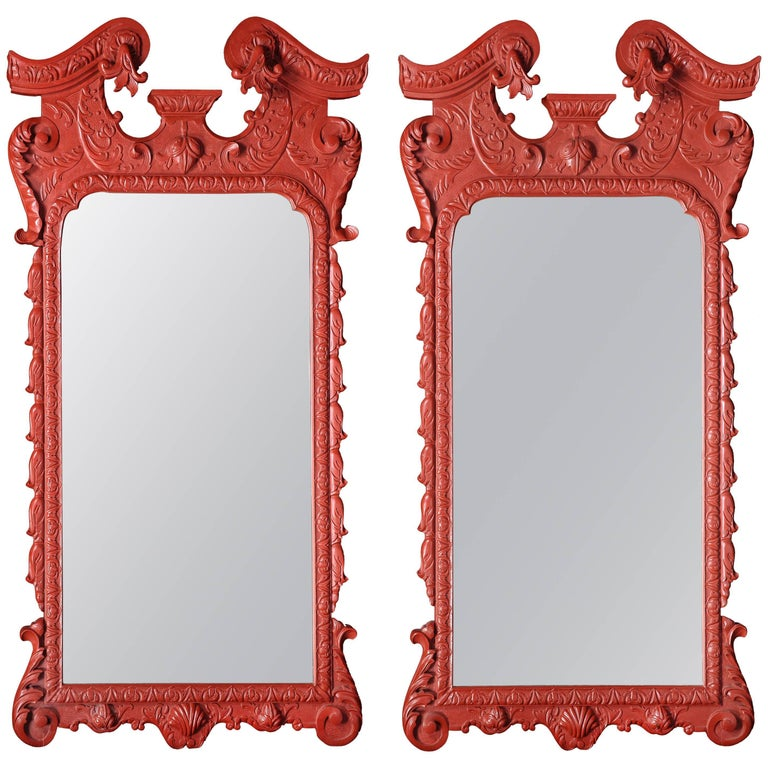 Overscale Pair of Painted Pier Mirrors