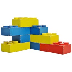 Large Decorative Lego Cubes Holland, 1960